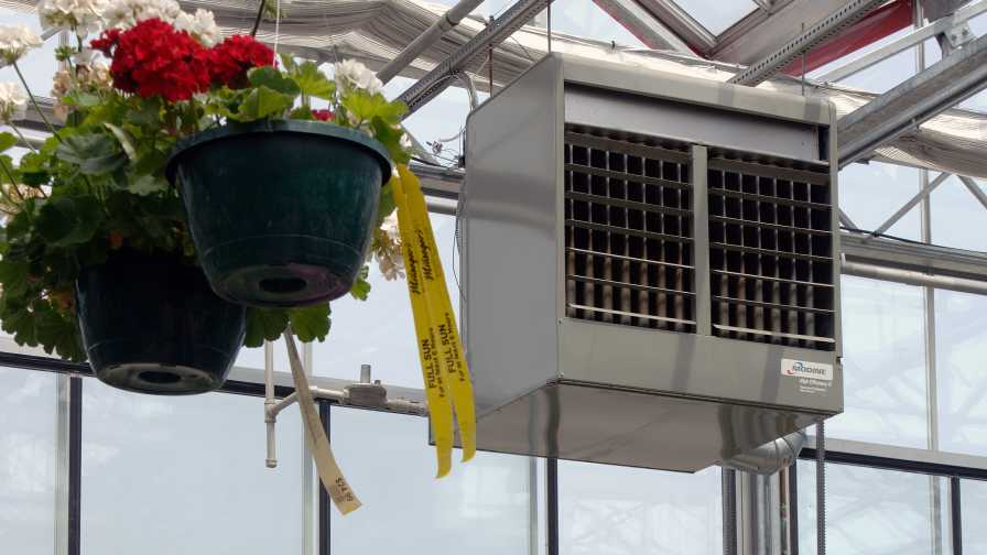 HVAC system in the greenhouse