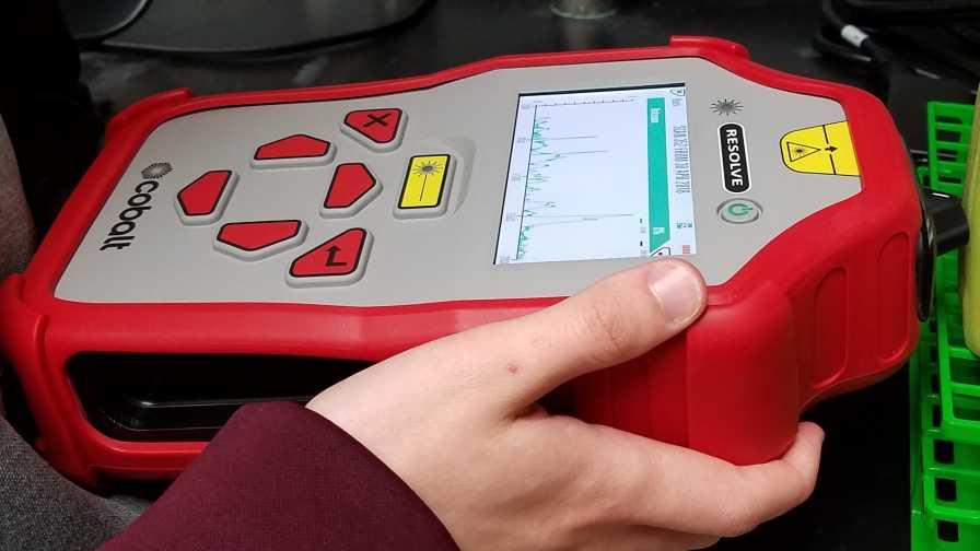 Portable spectrometer for rose rosette detection