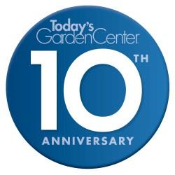 Today's Garden Center's 10th Anniversary logo
